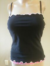 NWT PROFILE by GOTTEX Black & Pink TANKINI TOP ONLY E134-1B15 Women's Size 10
