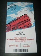 Wu-Tang Clan 2019 Collector series ticket Oct 31st Red Rock Amphitheater