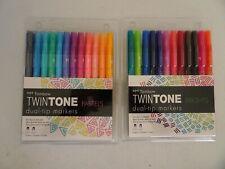 2 TwinTone Dual Tip Markers Brights Pastels 24 Nip