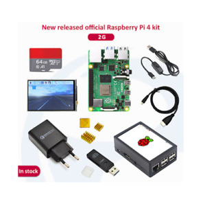 Raspberry Pi 4 Model B Kit 2/8GB RAM Quad Core CPU 1.5GHz 64GB SD Mini PC +LCD