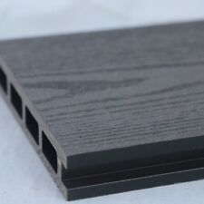 More details for grey wood effect composite decking | 25 board pack | covers 10 square metres