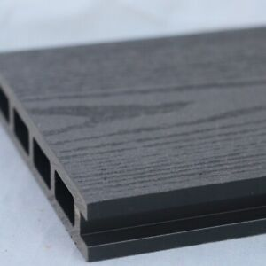 Grey Wood Effect Composite Decking | 25 Board Pack | Covers 10 Square Metres