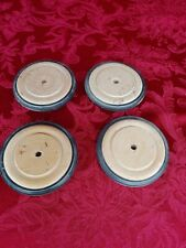 Wooden Wheels Set Of 4 With Rubber Tires