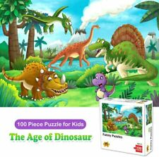 Puzzles for Kids Ages 4-8, 100 Piece Jigsaw Puzzles for Toddler Dinosaur Puzzle