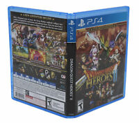 Dragon Quest Hero II PlayStation 4 PS4 Replacement Game Case & Cover Art NO GAME