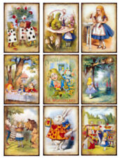 Vintage Image Fairy Tale Alice In Wonderland Collage Waterslide Decals FAI103