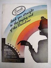 "Vintage 1948 ""Burrite"" Brochure w/ Bright Colored Pictures Of Plastic Dishes *"