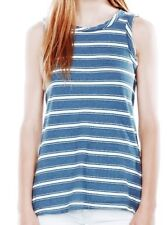 Current Elliott distressed blue white striped  Muscle tee  castaway SZ 1 New