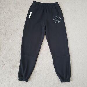 Nike Air Jordan Jogger Pants Mens Small Black AJ11 GFX Graphic Fleece Tapered S