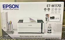 "Epson Mono Duplex Printer w/wifi ET-M1170 ""ecotank"" ""Precisioncore"" Black&White"