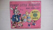"Golden Yellow Record Walt Disney's FUNNY LITTLE BUNNIES 6"" 78rpm 1950"