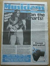 WEATHER REPORT MUSICIANS ONLY MAGAZINE SEPT 13 1980 JACO PASTORIUS COVER STORY U