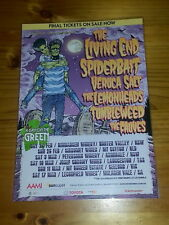 A DAY ON THE GREEN 2018 - THE LIVING END SPIDERBAIT ETC  Laminated Tour Poster