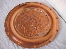 """Assiette déco en cuivre de 31,5 cm de diamètre 480g """" Forgeron """""""