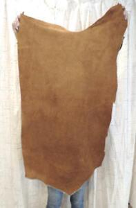 CARAMEL BISON BUFFALO Leather Hide for Native Crafts Moccasins Buckskins Bags