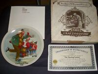 "VINTAGE 1981 CSATARI GRANDPARENT PLATE ""THE SKATING LESSON"" (2nd ISSUE)"
