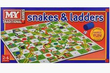 Snakes and Ladders Traditional Childrens & Family Board Game Kids Toy