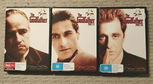 THE GODFATHER PART 1,2 & 3 DVD AL PACINO MARLON BRANDO VERY GOOD