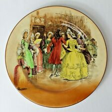 Antique Royal Doulton Sir Roger de Coverley Dinner or Collector Plate - Dancing