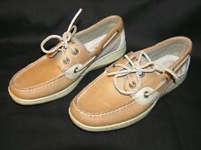 SPERRY TOP-SIDER BLUEFISH 2 EYELET WOMENS BOAT DECK LOAFER SHOES LINEN OAT 5