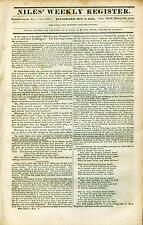 Newspaper Old & Authentic ! 1st Shots of Texas Revolution! Correo-San Felipe1835