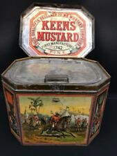 KEENS MUSTARD NATIONAL SPORTS CONDIMENT TIN LITHOGRAPH ADVERTISING PICTORIAL LID