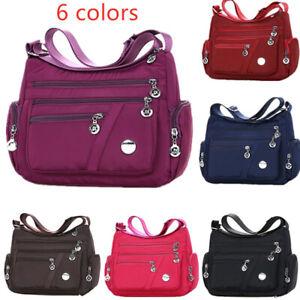 6 Colors Waterproof Nylon Bag Fashion Women Single Shoulder Bag Crossbody B_cd