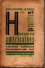 COLLECTION D ANAS N° 31   HISTOIRES AMERICAINES  LEON TREICH  1928  */*
