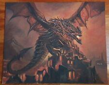 World of Warcraft WOW - Deathwing Drago - Quadro acrilico - Acrylic Painting