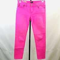 J Crew womens jeans size 27 Toothpick skinny stretch neon pink summer ankle