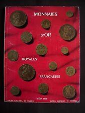 Monnaies d'or royales françaises