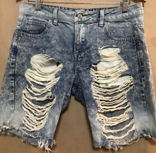 Cello Jeans Womens Distressed Denim Shorts Sz S. Size 32 , Fast Shipping.