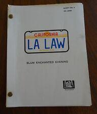 LA Law Episode Script #7 Story #2909 Slum Enchanted Evening August 1986 61 pages