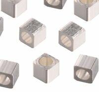 Tibet Silber Perlen Metall Spacer Messing Metallperlen Würfel 4mm 30stk  F201