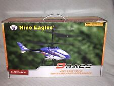 Nine Eagles DRACO 4CH RC Helicopter 2.4GHz Very Easy To Fly NE R/C 210A Ages 14+