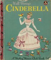Walt Disney's Cinderella 1950 A Mickey Mouse Club Little Golden Book