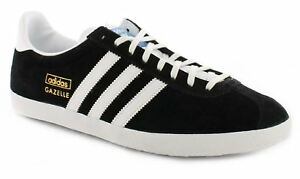 Adidas Men's Gazelle OG Lace Up Casual Classic Trainers Retro Sneakers Black