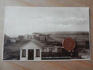 Vintage RP Postcard   Winchelsea Bungalows & Beach Sussex