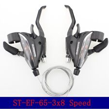 SHIMANO ST-EF65-8 MTB Brake Levers & Shifter Levers Set 3 x 8 Speed