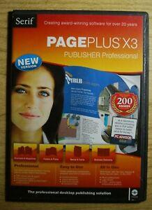 Serif  PagePlus X3 Desktop Publishing Windows 2 CD discs & USER GUIDE