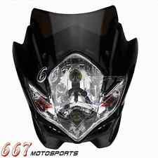 Street fighter Motorcycle Bike Headlight Head Light Lamp For Honda BMW KTM Black