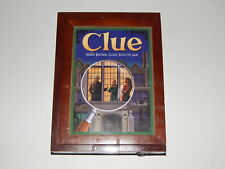 2012 Vintage Edition Bookshelf Game CLUE Wood Box Parker Brothers R18056