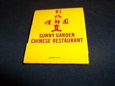 New Old Stock Sunny Garden Chinese Restaurant Ballwin MO Matchbook