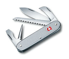 VICTORINOX RARE COUTEAU SUISSE PIONEER ALOX SILVER GRIS +SCIE 7 OUTILS 0.8150.26