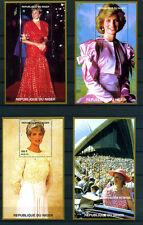OFFERTA COLLEZIONE1997 TOUR MONDIALE LADY DIANA 4 FOGLIETTI-SCOTT 944 Stamps