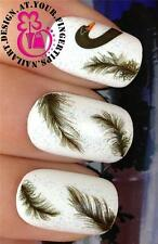 NAIL ART DECORATION WRAP WATER TRANSFERS STICKERS DECALS BLACK SWAN FEATHER #249