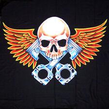 Skull Piston Wings Biker Wall Banner Wb229 flag bike