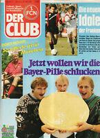 BL 86/87  1. FC Nürnberg - DER CLUB Nr.4 mit Leverkusen