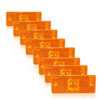 8 X 4 LED 24V Positionsleuchte Umrißleuchte Begrenzungsleuchte LKW PKW Orange