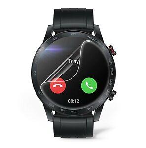 2 x Round Smart Watch Screen Protector TPU Film for Samsung Huawei Garmin